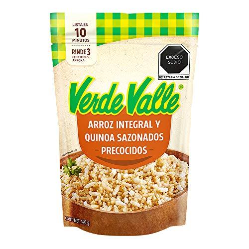 Verde Valle, Quínoa y Arroz Integral Precocido Sazonado, 140 gramos