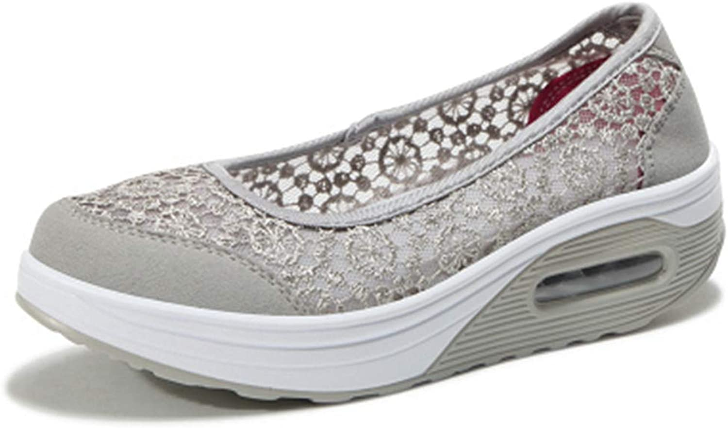 Beautiful - Fashion Women's Slip On Wedges Sneakers Mesh Breathable Lightweight Casual Platform Slip-on Fitness Walking shoes