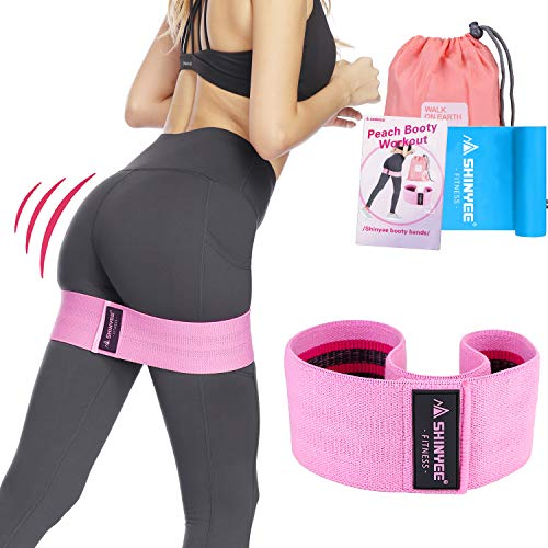 Shinyee Booty Hip Band High Resistance Bands for Legs and Butt Workout Loop Exercise Band Set Women,Gym Fitness Circle Non Slip Fabric Heavy Duty Training Glute Band