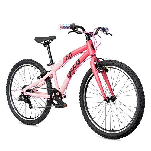 OLLO Kinderfahrrad 24 Zoll, ab 8 Jahre, Jungen & Mädchen, 9,9 kg leicht - pink