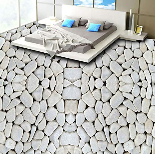 Yosot Anti Wear Wohnzimmer Badezimmer Wasserdicht Pvc Selbstklebende Vinyl-Bodenbelag Tapete Aufkleber Pebbles Foto 3D Bodenfliesen Wandbild-140Cmx100Cm