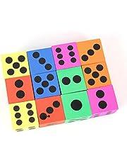 TOYMYTOY - Espuma grande para los dados para niños pequeños, 12 unidades (color aleatorio)