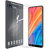 LK Protector de Pantalla para Xiaomi Mi Mix 2s Cristal Templado, [3 Unidades] [9H Dureza] [Resistente a Arañazos] Vidrio Templado Screen Protector para Xiaomi Mi Mix 2s