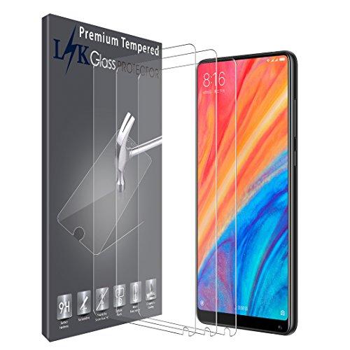 LK Compatible con Xiaomi Mi Mix 2s Protector de Pantalla,3 Pack,9H Dureza Cristal Templado,Vidrio Templado Screen Protector