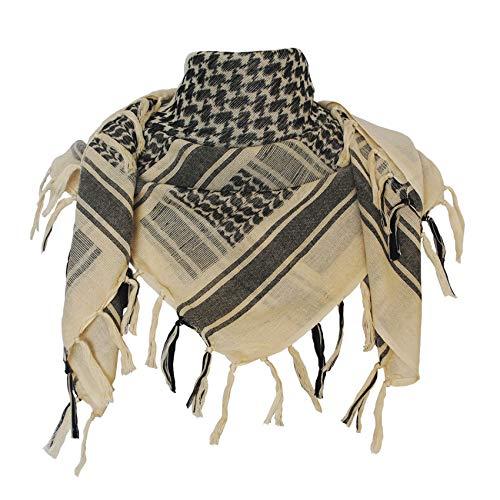 Explore Land Cotton Shemagh Tactical Desert Scarf Wrap (Tan)