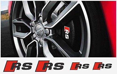 Audi RS brake caliper decal 6pcs. set (black - red)