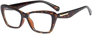 Fulision Fashion Retro Female Glasses Square Transparent Lens Reading Glasses