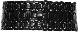 Women's Weave Retro Wide Elastic Stretch Corset Waist Belt for Dress