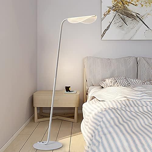DO-MF Lámparas de pie Fijo Creativo Acrílico Hoja Lámpara Sala de Estar Simple Moderno LED Luz de Noche Dormitorio Dormitorio Lámpara de Lectura - Lámpara Regulable,Blanco