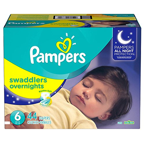 Pampers Swaddlers Overnights Disposable Diapers Size 6, 44...