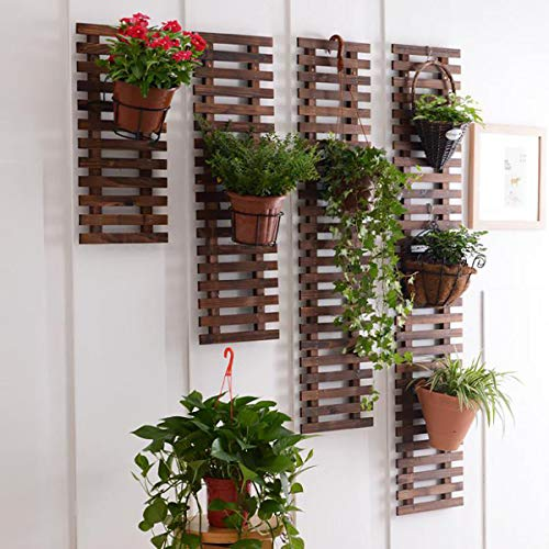 ECYC Wood Hanging Wall Grid Flower Stand Climb Trellis Support Decorative Garden Fence for Home Yard Garden Decoration