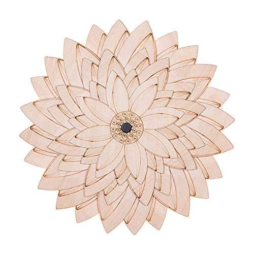 Sencillo pero bonito lámpara de pared Lámpara de pared, lámpara de hierro forjado de madera, el diseño de Lotus nórdica, ideal for salas de estar, comedores, Corredor iluminación de la decoración.