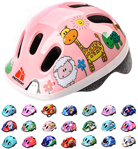 Casco Bicicleta Bebe Helmet Bici Ciclismo para Niño - Cascos para Infantil Bici Helmet para Patinete Ciclismo Montaña BMX Carretera Skate Patines monopatines MV6-2 (S(48-52cm), Animals)