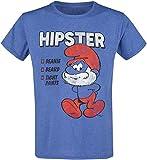 Die Schlümpfe Hipster Männer T-Shirt blau melier