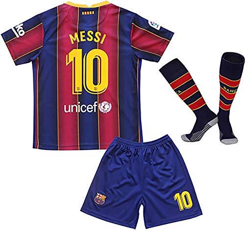 KARPOS 2020/2021 Season Messi Jersey Shorts & Socks for Kids/Youths (Messi Home, 7-8Year/Size22)