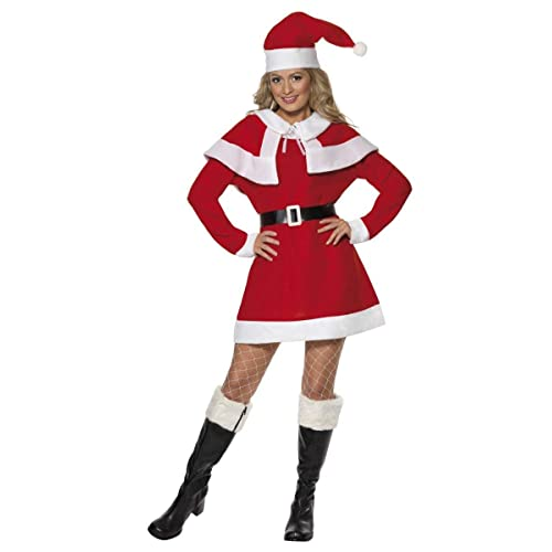 943bf7d430fb0 Ladies Missy Santa Mrs Claus Christmas Xmas Festive Fancy Dress Costume  Outfit UK 8-22