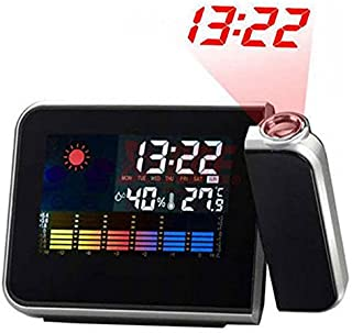 Projection LCD Digital Alarm Clock Projector Color Display LED Backlight Table Desktop Clocks Reloj Despertador