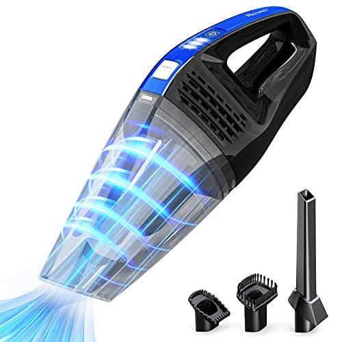 Aspirapolvere Portatili 9000Pa Aspirabriciole Senza Fili Potente, 35 Minuti di Utilizzo Bagnato e Asciutto con Indicatore LED Della Batteria, per Casa o Auto