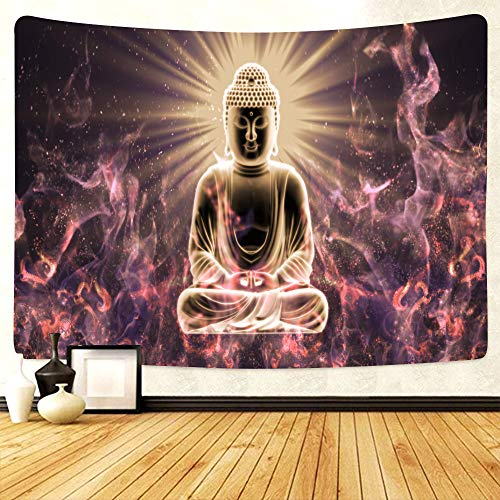 Buddha Tapestry Meditation Tapestry Hippie Chakra Tapestry For Bedroom Aesthetic Chakra Poster Wall Tapestry For Room Decor Aesthetic Room Decorations…