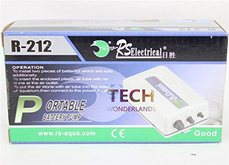 New Product Portable battery air pump Aquarium fish tank Oxygenated Live Bait Fishing Aerator RS R212 black R 212