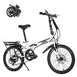 STRTG Bikes Bicicleta Plegable, Bicicleta Plegable Urbana Micro Bike, 20 Pulgadas, Bicicletas Plegable, para Adulto, Unisex Plegable para Transporte en Coche, autobús,