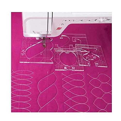 New YICBOR New Ruler Border Sampler Template Set for Sewing Machine 1set = 4pcs #RL-04W (2.9MM)