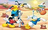 QIQILE Diamond Painting Kit Completo Punto De Cruz Diamante Kits 5D - Cuento De Hadas Ii'Mickey Mouse Y El Pato Donald' - Puzzle De Diamantes Artes Manualidades Decoración Del Hogar