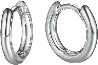 Elegant 14K Gold Plated Sterling Silver Hoop Earrings,...