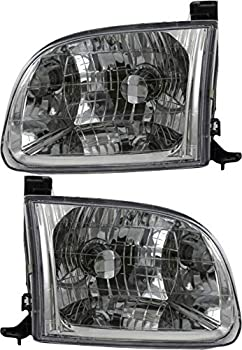 JP Auto Headlight Compatible With Toyota Tundra Regular Cab Access Cab Model 2000 2001 2002 2003 2004 Driver Left And Passenger Right Side Pair Set Headlamp