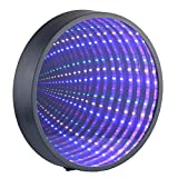 Chibuy Infinity Mirror Tunnel Light LED Night Light 3D Mirror Wall Hanging Lights Desktop Lamp Wedding Festival Party Decoration Light Sign Illusion Night Light Tunnel Mirror Light (Battery Powered)