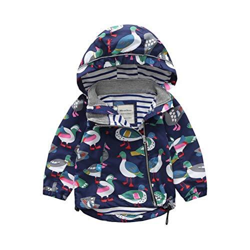 ARAUS ARAUS Baby Jacke Jungen Regenmantel Mädchen Mantel mit Kapuzen Winddicht Herbst 2-8 Alter