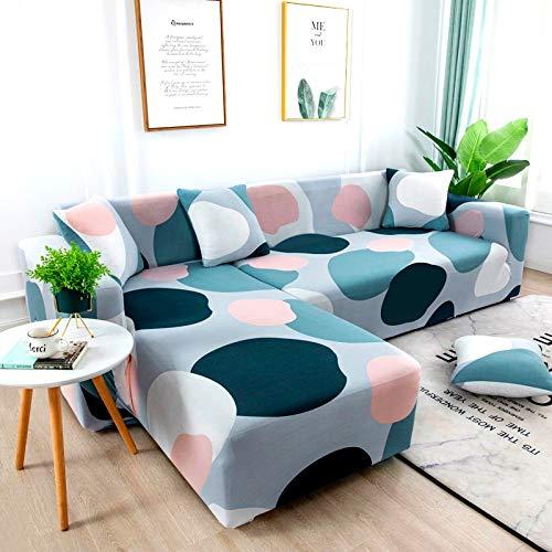 ASCV Fundas de sofá Fundas de sofá para Sala de Estar Funda de sofá elástica Funda de sofá seccional elástica A4 2 plazas