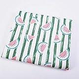 YZMY Baumwollstoff Wassermelonen-Streifendruck