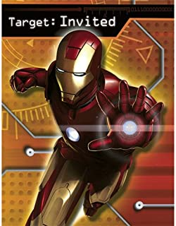 Iron Man Invitations 8ct