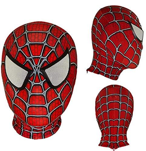 Lianhua Cos Halloween Mask Superhero Masks Cosplay Mask Fabric Material Mask Anime Props (Adult mask, Raimi Homecoming-2)