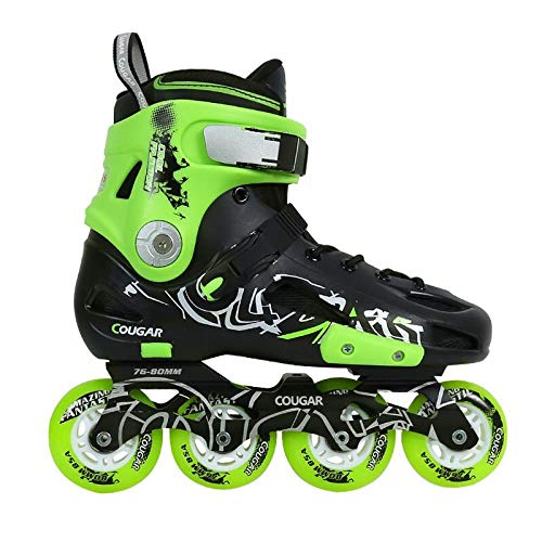 SSLLPPAA Black Green Skates for Men and Women Roller Skates Adult Inline Skates, 41 Yards