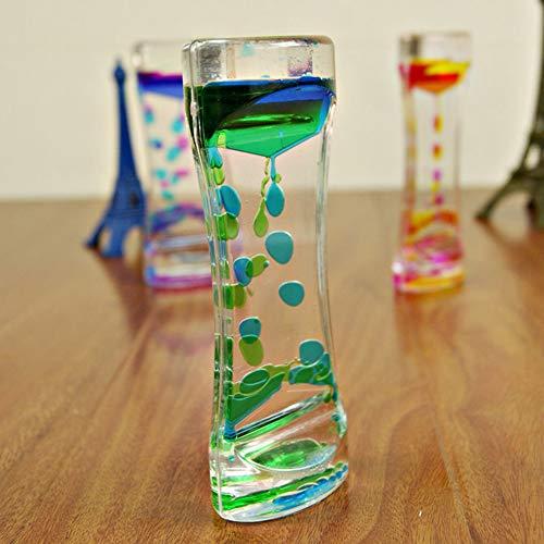 ypypiaol Wasser Bewegung Flüssigkeit Bewegung Doppel Farben Öl Sanduhr Flüssigkeit Bewegung Bubble Timer mit Ziemlich Taille Schreibtisch Dekor Geburtstagsgeschenk Kinder Spielzeug Green