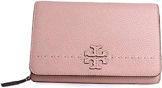 McGraw Flat Wallet Leather Wallet Crossbody in Devon Sand