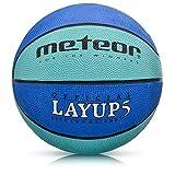 meteor® Layup Kinder Mini Basketball Größe #5 ideal auf die Jugend Kinderhände von 4-8 Jährigen abgestimmt idealer Basketball für Ausbildung weicher Basketball (Größe 5 (Kinder), Blau)