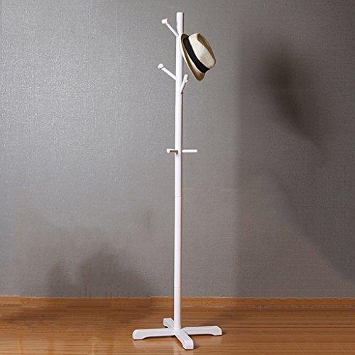 SKC Lighting-Porte-manteau Porte-vêtements suspendus, étagère, étagère, étagères, bois massif, créatif, salon, salon, étagère, simple, ménage (Couleur : Blanc)