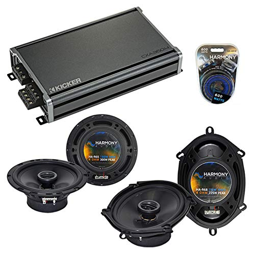Compatible with BMW 3 Series 2002-2005 Factory Speaker Replacement Harmony Audio Bundle R5 R65 & CXA360.4 Amp