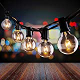 Uokier Lichterkette Außen 11M G40 33+3er Lichterkette Glühbirnen Warmweiß IP44 Wasserdicht Deko Lichterkette Glühbirnen für Garten, Terrasse, Balkon, Party, Hochzeit, Innen/Aussen