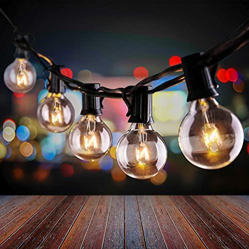 Uokier Lichterkette Außen 11M G40 33+3er Lichterkette Glühbirnen Warmweiß IP44 Wasserdicht Deko Lichterkette Glühbirnen für Garten,...