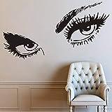 Etiqueta de la pared de la tienda de belleza de las pestañas, etiqueta de la pared del arte de la habitación de las niñas