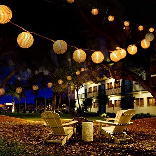 Luci Solari da Esterno, VIFLYKOO Catena Luminosa a Lanterna Solare Esterna 50LED 9.2M Lanterna Solare IP65 Impermeabile Decorazione per Giardino, Cortile, Balcone, Matrimonio, Festa - Bianco Caldo