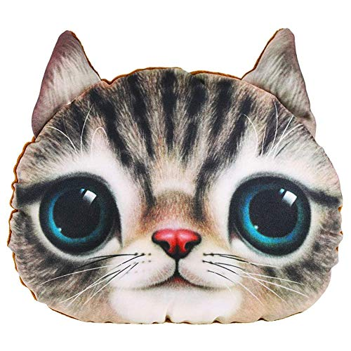 Plhzh Auto Car Headrest Pillow Head Neck Support for Home Travel Cute Lovely Cat.