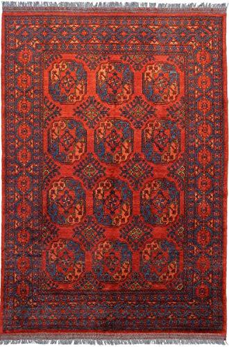 Nain Trading Afghan Ersari 245x172 Orientteppich Teppich Rot Handgeknüpft Afghanistan