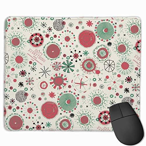 Weihnachtsdekorationen Weihnachten Anti-Rutsch-personalisierte Designs Gaming-Mauspad Schwarzes Stoff Rechteck Mousepad Art Naturkautschuk-Mausmatte mit genähten Kanten