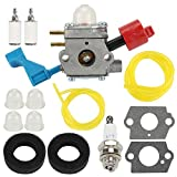 Wellsking C1U-W12A Carburetor for Poulan FL1500 FL1500LE Leaf Blower C1U-W12B Gas Leaf Blower Carb Craftsman 952711486 530071629 with Air F11ilter Filter Repower Kit Spark Plug