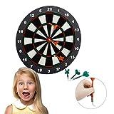 Relaxdays 10021463 Gioco Bersaglio Freccette Soft 42 cm, 6 Frecce, per Bambini, Montaggio ...